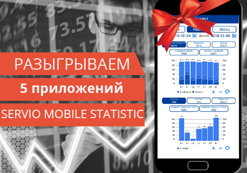 SERVIO Mobile Statistic  - обновление приложения и розыгрыш